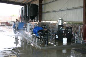equipment wash bays