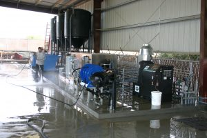 equipment wash bays