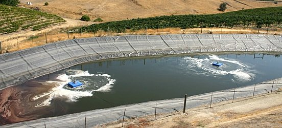 Winery wastewater treatment solutions clearblu environmental for Pond water treatment systems